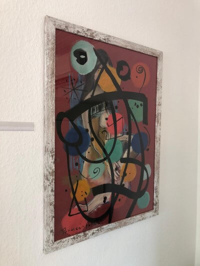 Gemälde Peter Keil Rot